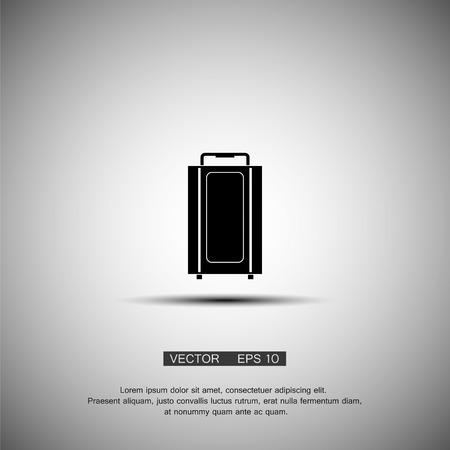 school kit: Vector icons suitcase. Black symbol. Eps 10