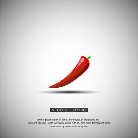 capsaicin: Red hot chili pepper isolated on a white background cartoon illustration vector eps 10 Illustration