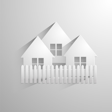 tenure: Home vector white icon with shadow. Eps 10