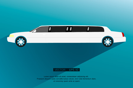 vip: Limousine icon,sign. Modern simple design,flat style. Vector illustration