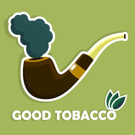 tobacco: Vector Tobacco Pipe Icon or symbol.  Illustration