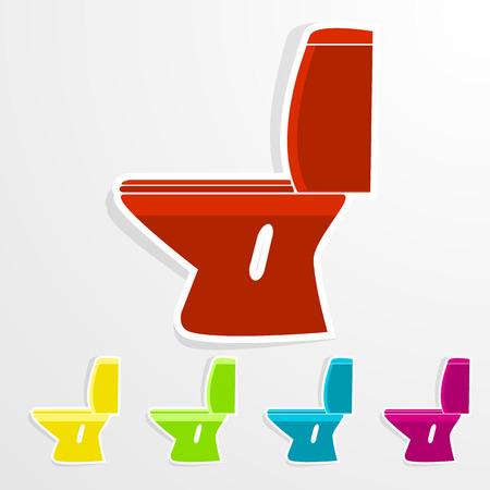 toilet bowl: Toilet Bowl. Vector symbol or icon.