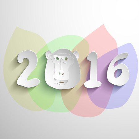Year Of The Monkey 2016. Vector symbol New Year