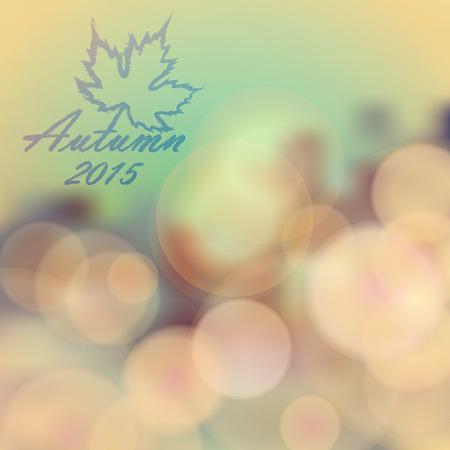 Autumn day theme background. Abstract vector illustration. Ilustração
