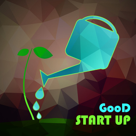 plant tree: Vector money tree concept in flat style - green plant - investment concept