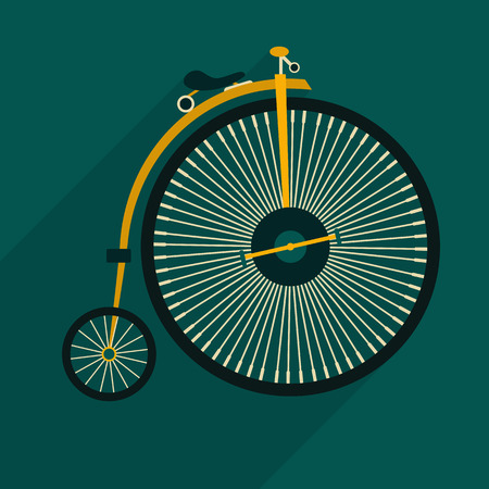 retro bicycle flat icon. Vector eps 10