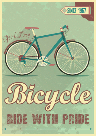Life is like riding a bicycle to keep your balance you must keep moving hipster poster with retro road bicycle on background and vintage lettering. Vector poster
