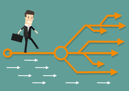 Businessman chooses the right path illustration Imagens - 56714399