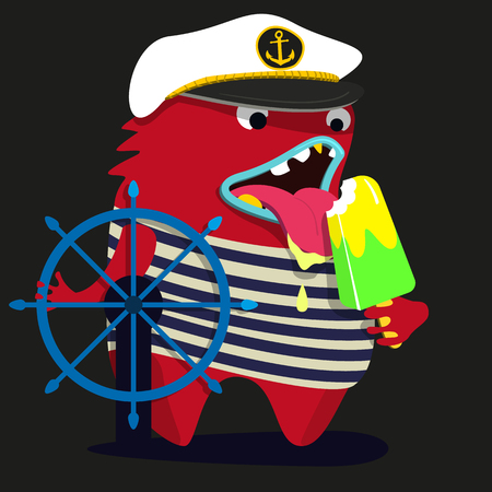 cute monster  graphic captain
