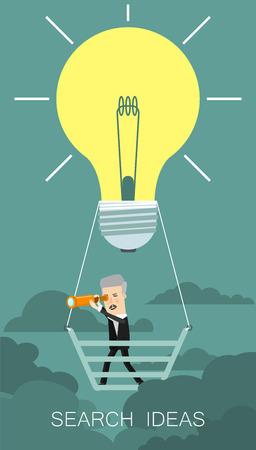 Search Big Idea. Business concept cartoon illustration. Imagens - 58724869
