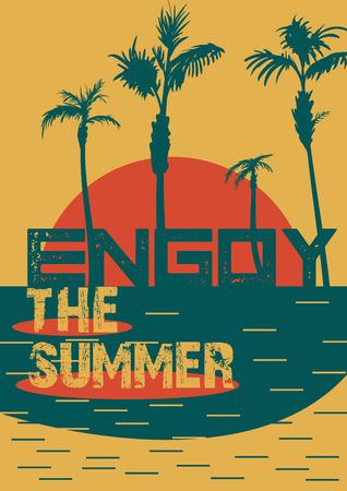 Hello Summer Beach Party Flyer. Vector Design EPS 10 Imagens - 58733626