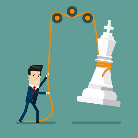 Businessman reaching success Strategy. Business concept cartoon illustration. 向量圖像