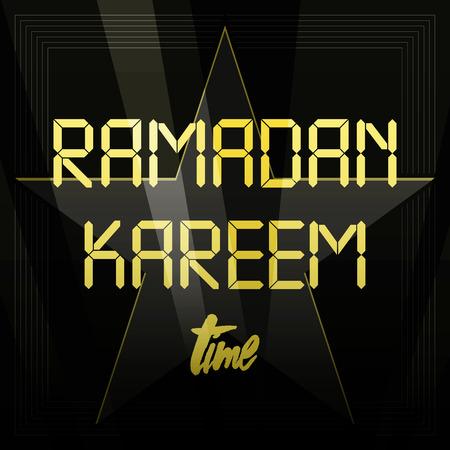 Beautiful Ramadan Kareem text design vector background Imagens - 58747360