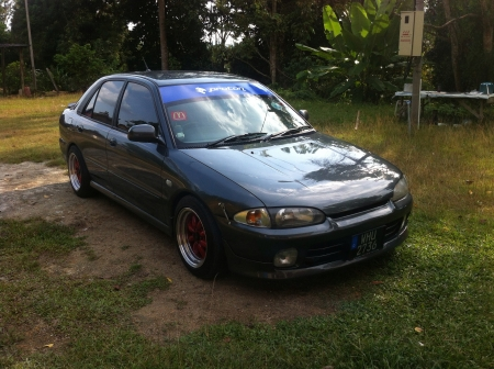 proton: proton wira a malaysia car Stock Photo