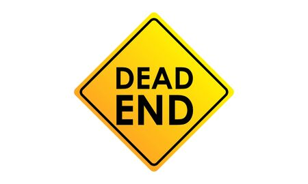 Dead end road sign icon vector illustration.