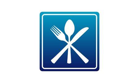 Restaurant roadsign isolated on white background vector image