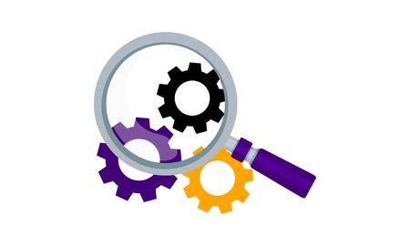 Technical SEO icon vector illustration.