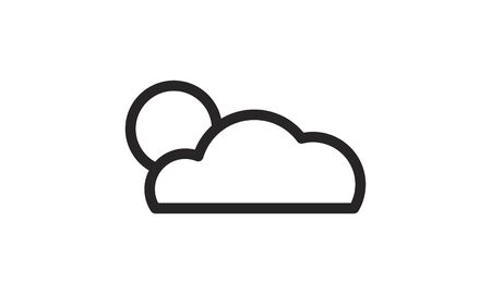 sun with clouds icon vector image  イラスト・ベクター素材