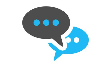 Talking bubble chat icon vector illustration.