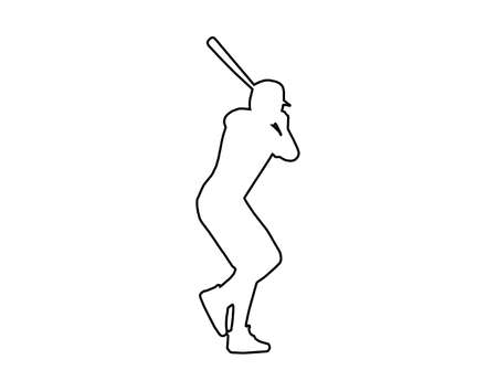 Baseball player icon vector illustration.
