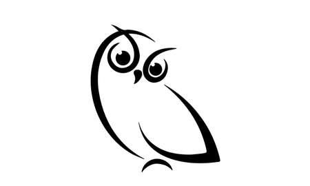 Vector of owl design on white background.