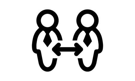 Business communication icon vector image  イラスト・ベクター素材