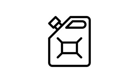 Outline gas can icon isolated black simple line vector image