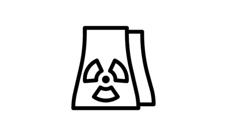 Nuclear power plant icon simple vector image