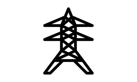 Electrical tower isolated icon design vector image
