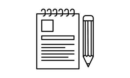Notepad icon flat style graphical symbol.