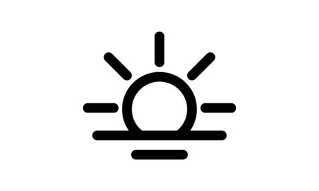 Sunrise sunset line icon vector image Vectores