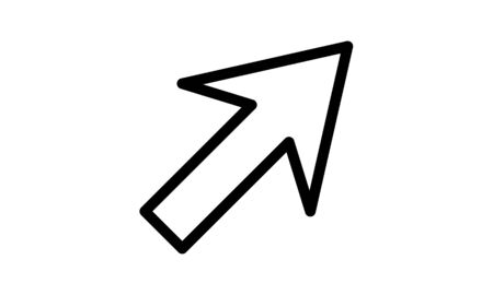 up right arrow icon flat style vector illustration.