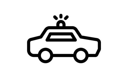 Police car icon simple style vector image