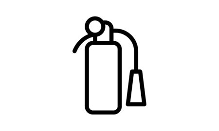 Fire extinguisher icon. Fire safety. Premium quality graphic design. Signs, outline symbols collection icon for websites, web design, mobile app on white background Çizim