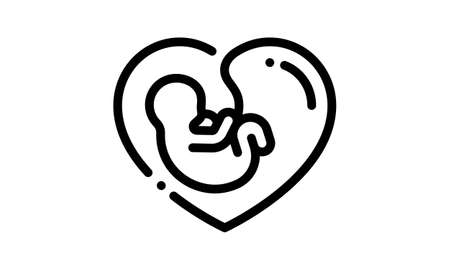 Fetus Icon Isolated on White Background