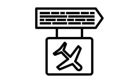 Arrivals flight information icon flat style vector illustration. 向量圖像