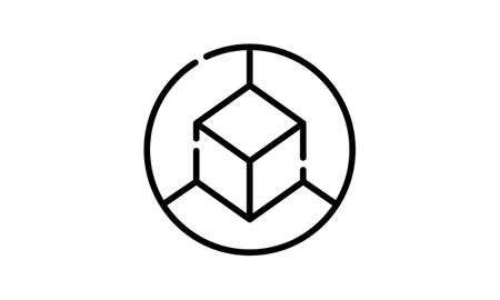 3d cube icon from Geometry collection.