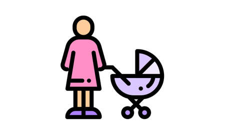 baby carriage icon simple style vector image