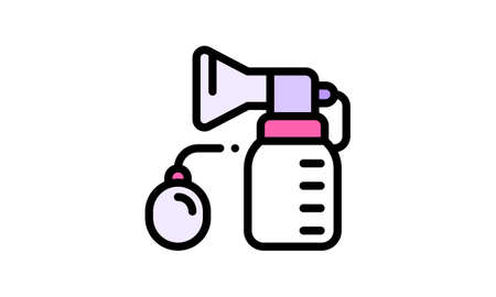 Manual breast pump icon. Can be used for web and mobile apps.