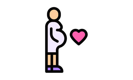Woman Pregnant icon. Woman Pregnant symbol design from Human Body Parts collection. Simple element vector illustration. Can be used in web and mobile.
