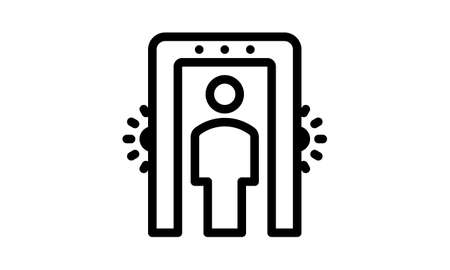Security gate modern icon for graphic and web design. 向量圖像