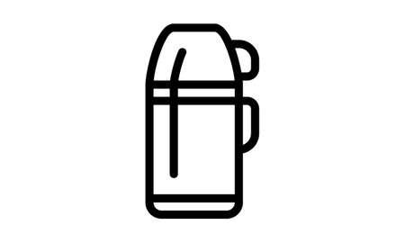 flask icon in simple style vector image