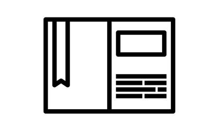 Notebook icon flat style vector illustration. Can be used for web and mobile apps.