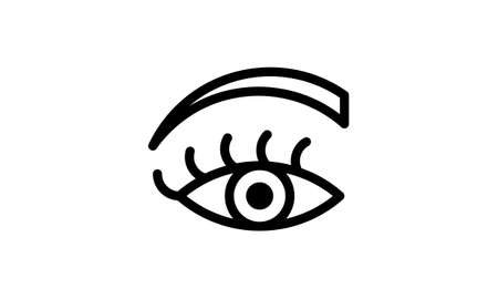 Women eye vector icon Vettoriali