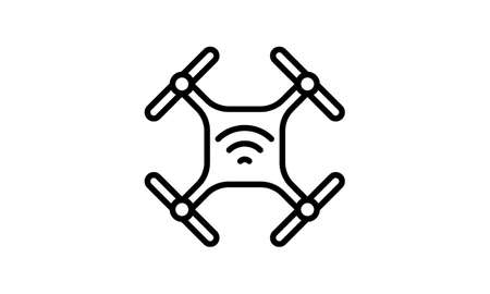 Radio Transmitter Drone Icon vector image