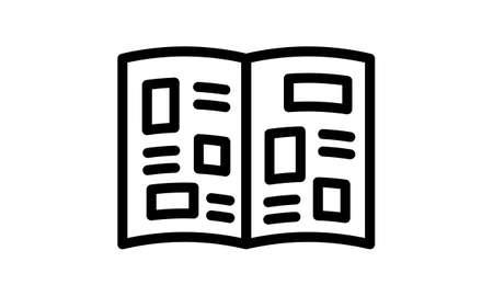 Newspaper icon flat style vector illustration. Ilustração