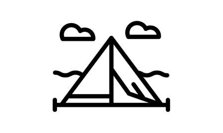 Tent Icon Design Vector Symbol Camp Travel Event. Can be used for web and mobile apps.