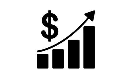 Sales growth flat icon vector illustration.