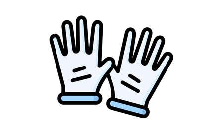 Gloves icon colored symbol premium quality vector image Illustration