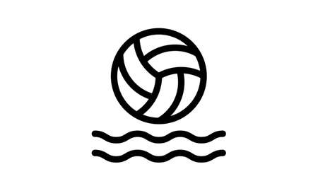 Water polo sport Icon and symbol